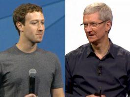 El dueño de Facebook le responde al CEO de Apple tras críticas por filtración de datos