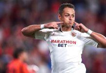 """""""Chicharito"""" anota su segundo gol con el Sevilla"""